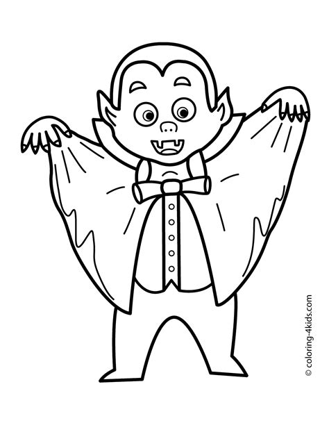 12 vampire coloring pages printable   Print Color Craft
