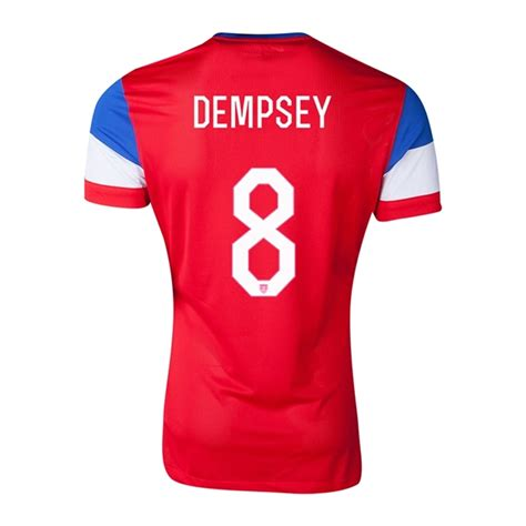 $157.49   Nike USA 2014  DEMPSEY 8  Away Authentic Soccer ...