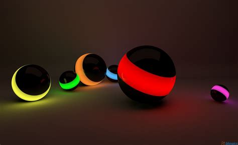 3D HD Colorful Ball for Laptop Free Download Wallpaper ...