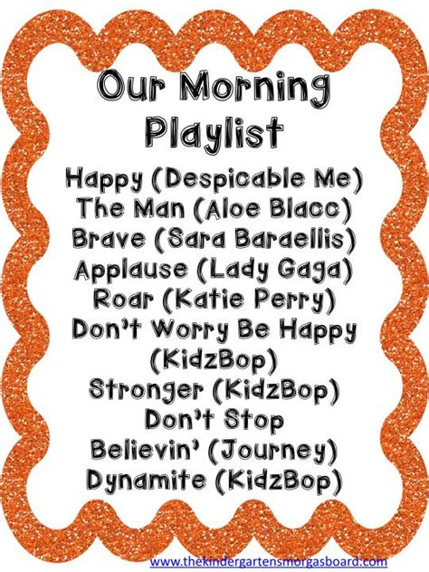 A playlist for morning arrival in your classroom. Upbeat ...