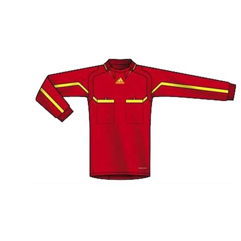 Adidas Long Sleeve Red Jersey   The Official Referee Shirt ...