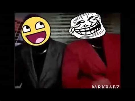 Awesome face and Troll face dance   YouTube