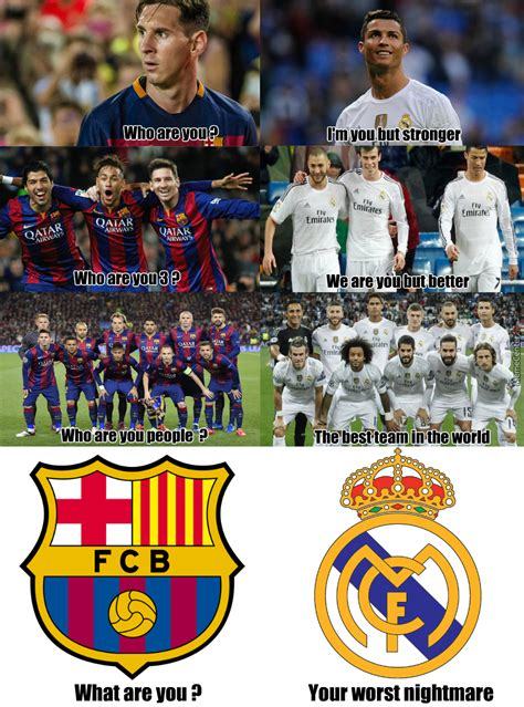 Barcelona Vs Real Madrid by edwarddnewgate   Meme Center