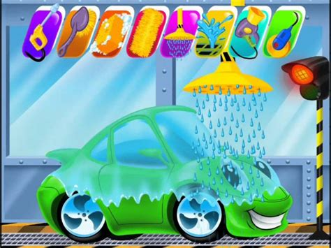 Car Wash and Spa video for kids Clean Up Games Kids Games ...