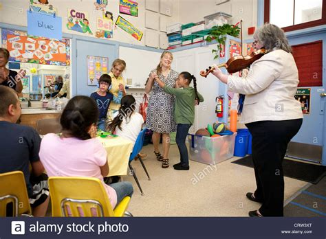 Celebration in a special education classroom, USA ...