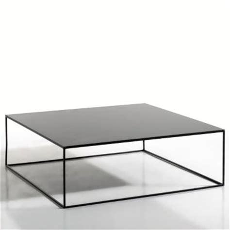Clean and simple square, metal table Romy by AMPM ...