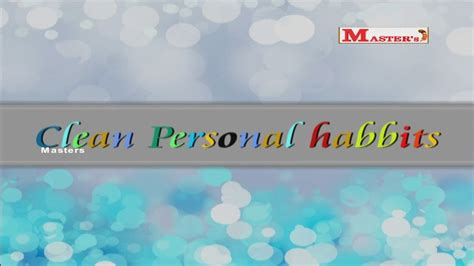 Clean Personal Habits   English Animation Video for Kids ...