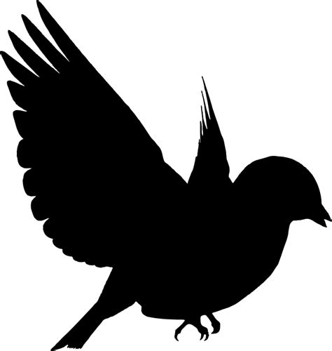 Clipart   Colorful Bird Silhouette