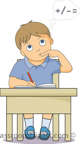 Clipart Student Working – 101 Clip Art