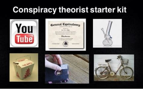 Conspiracy Theorist Starter Kit Obetteral Equiuarlenen You ...