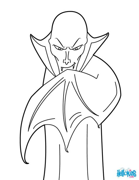 Count dracula coloring pages   Hellokids.com