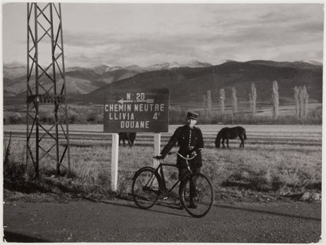 [Customs officer on the road to Llivia, France Spain ...