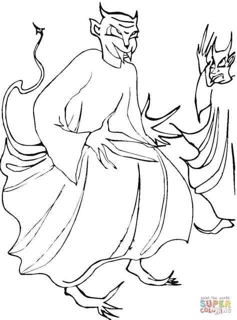 Demon Coloring Pages Printable. Demon. Best Free Coloring ...