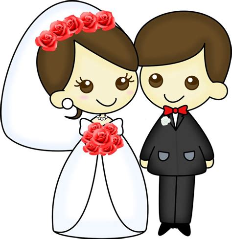 Dibujos. Clipart. Digi stamps   Wedding   Novios   Boda ...
