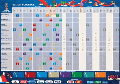 Fifa 2018 schedule | 2018 Calendar printable for Free ...