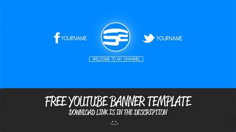 Free Clean YT Banner Template!   YouTube