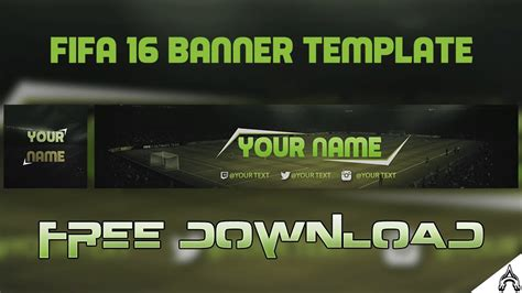 Free Fifa 16/17 Channel Art/Banner   Free YouTube Template ...