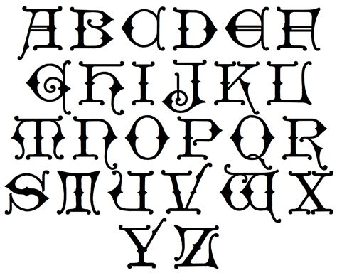 Free letter gothic alphabet coloring pages