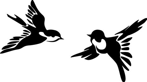 Free vector graphic: Stylized, Birds, Flying, Animal ...