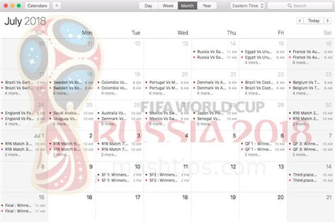 Get FIFA World Cup 2018 Schedule Calendar for PC and ...