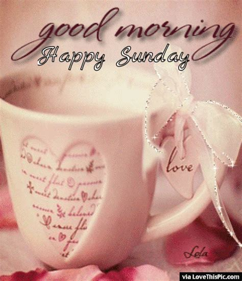 Good Morning Happy Sunday Gif Pictures, Photos, and Images ...