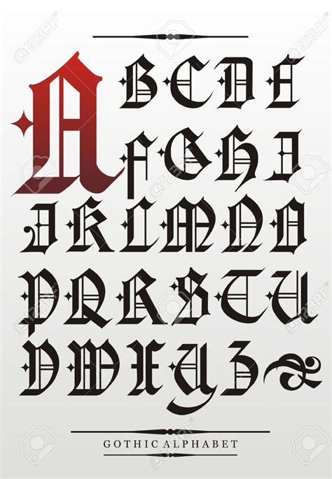 Gothic Calligraphy Stock Illustrations, Cliparts And ...