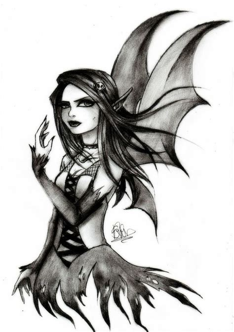 Gothic Drawings | gothic fairy by soeraven traditional art ...