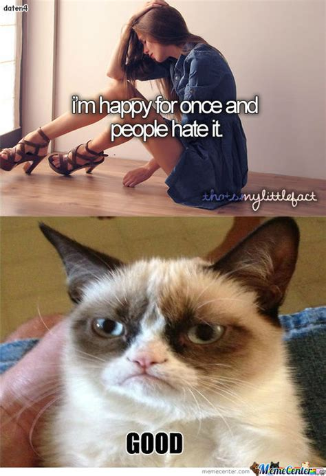Grumpy Cat Vs Tumblr Girl by daten4   Meme Center