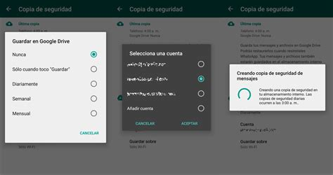 Guardar copias de seguridad de Whatsapp en Google Drive