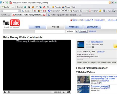 """Hacker zone: Solution to youtube's """"This video is no ..."""