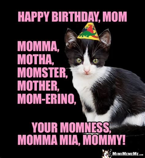 Happy Birthday Mom! Funny Party Animals Wish Mommy, Mother ...