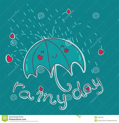 Happy rainy day! stock vector. Illustration of concept ...