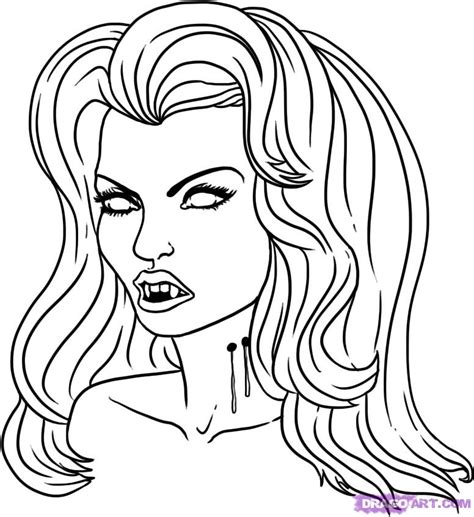 How to Draw a Vampire Girl, Step by Step, Vampires ...