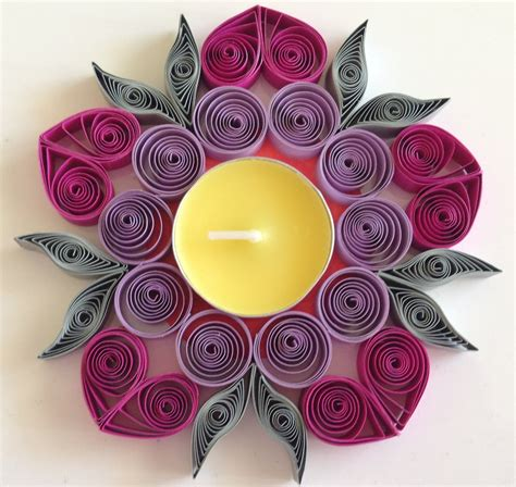 How to make Quilling Candle Holder   YouTube