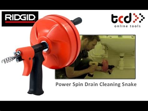 How to Unblock a Sink / Drain   Ridgid Power Spin Drain ...