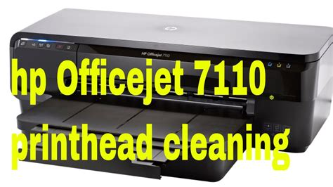 hp Officejet 7110 printhead cleaning   YouTube
