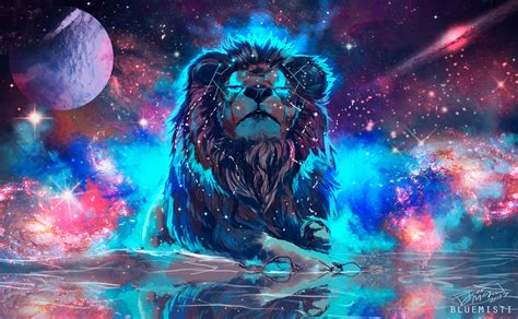 Lion Artistic Colorful, HD 4K Wallpaper
