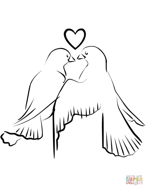 Love Birds coloring page | Free Printable Coloring Pages
