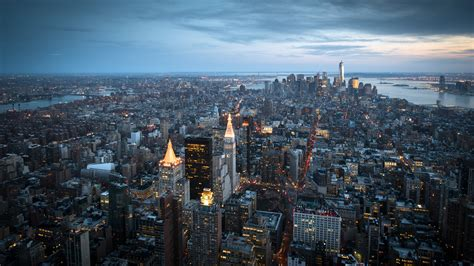 Manhattan New York City Skyscrapers Wallpaper