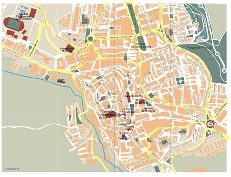 Mapa Caceres Vectorial. Formatos Vector Freehand ...