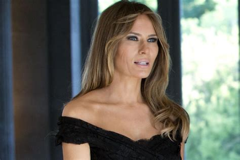 Melania Trump in Brussels Style: D&G Sandals & Pretty ...