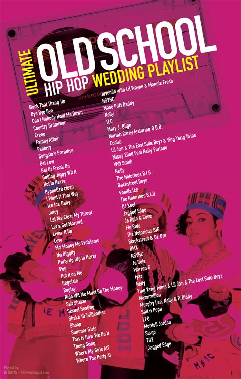 Old School Hip Hop Wedding Playlist most requested 90 s ...