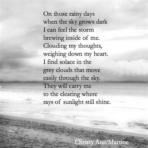 On Those Rainy Days poem by Christy Ann Martine   Sad ...