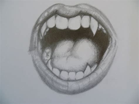 pencil drawing vampire teeth   Google Search | Things I m ...