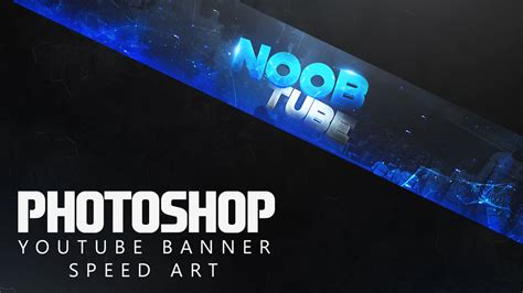 Photoshop Clean 2D Youtube Banner Speed Art   YouTube