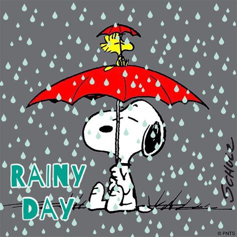 Rainy day blues under a red umbrella | CHARLIE BROWN ...
