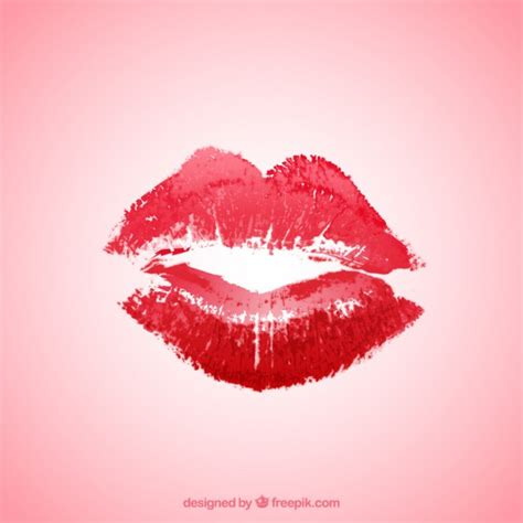 Red lipstick kiss Vector | Free Download