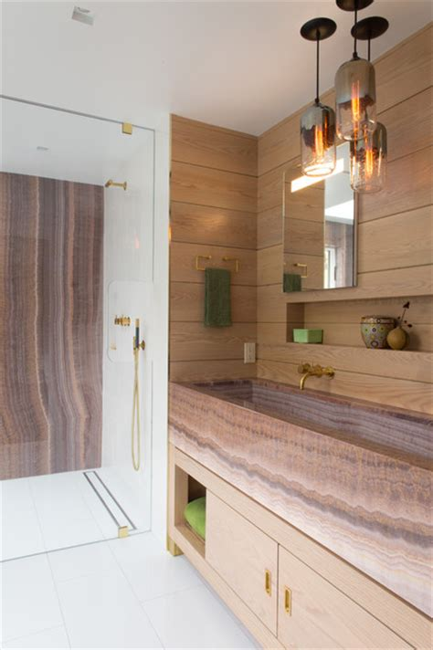 Room of the Week: A Luxurious Timber clad Bathroom in New York