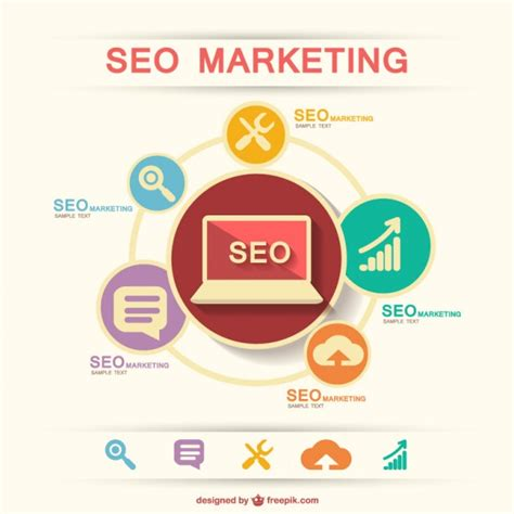 SEO marketing infographic Vector   Free Download