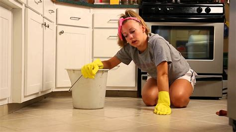 Sexy Girl Cleaning the Floor   YouTube